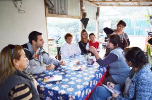 Costa con los vecinos de Doña Justa