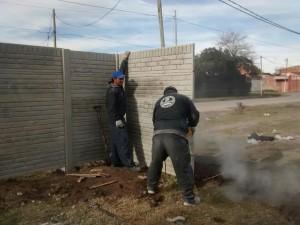 La construcción del muro