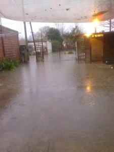 Otra de las viviendas afectadas por el agua