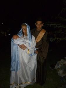 Maria y Jose huyen con Jesus
