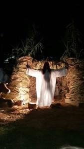 El momento mas que emotivo, con la aparición de Jesús hombre