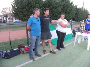 El subsecretario de Deportes, Lezcano, el coordinador del poli Hugo Belloso y la entrenadora Gisela
