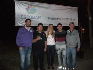 Germán y Macarena junto al Director de Deportes del municpio