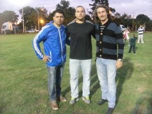 Sebastian Cobelli junto a integrantes de la UGC 19 de Garin