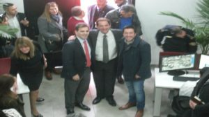 Sujarchuk, junto a Ritondo y Nardini