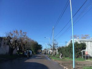 Columnas sobre la calle San Martin