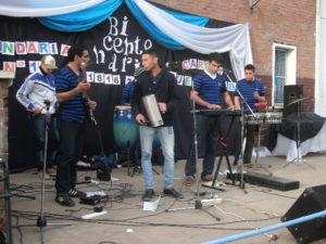 Uno de los grupos de cumbia