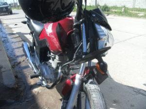 Así quedo la moto.