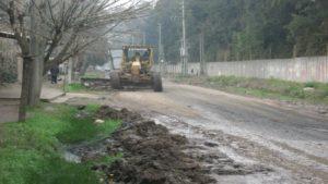 Comenzaron los trabajos en la calle Beliera