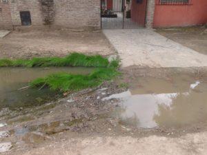 El agua en la entrada del Merendero