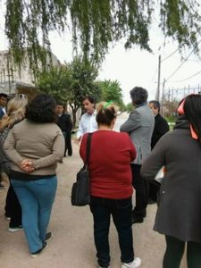 El Intendente con los vecinos de la tomas Marquez.