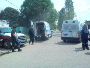 Las ambulancias que llegaron al lugar